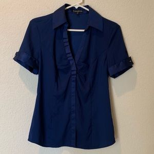 Express Blue Button Down Top sz S